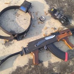Télécharger fichier STL gratuit Gel blaster RX Akm47 blowback AIMs Handguard, Guzshop