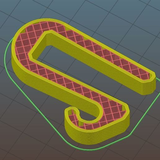 """slice.JPG Download free STL file Christmas Lights Hook for Common Wood Fences (1/2"""") • 3D printer object, ThinkSolutions"""