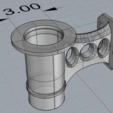 TikiTorchBracketRevC_3inchHole.PNG Télécharger fichier STL gratuit Mont de clôture de la torche Tiki • Plan pour imprimante 3D, ThinkSolutions