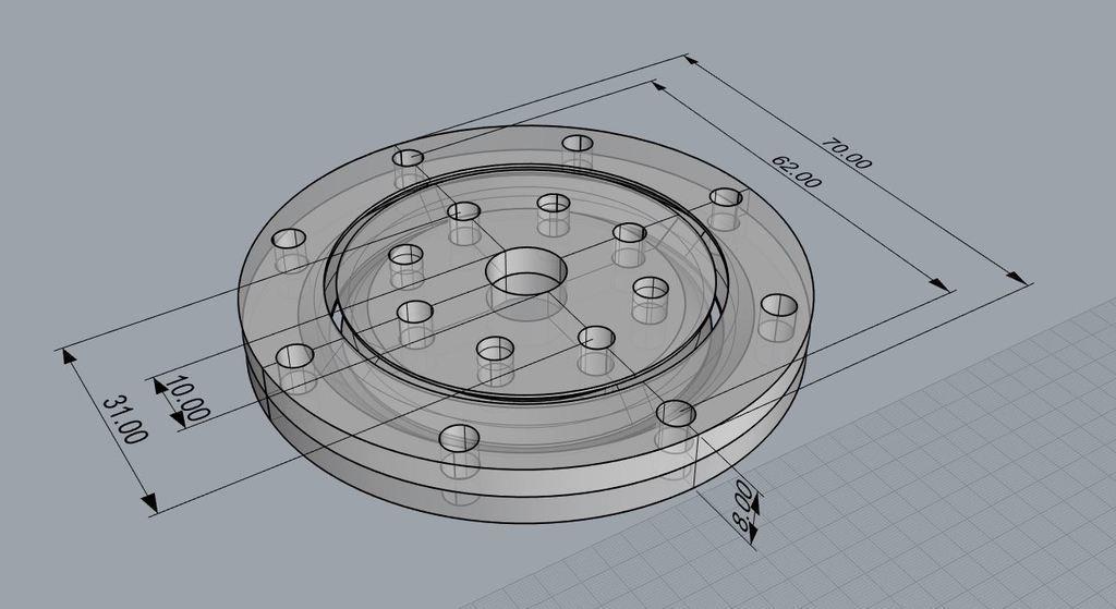 SlewBearing70x8.JPG Télécharger fichier STL gratuit Roulement à billes de 70 mm • Modèle à imprimer en 3D, ThinkSolutions