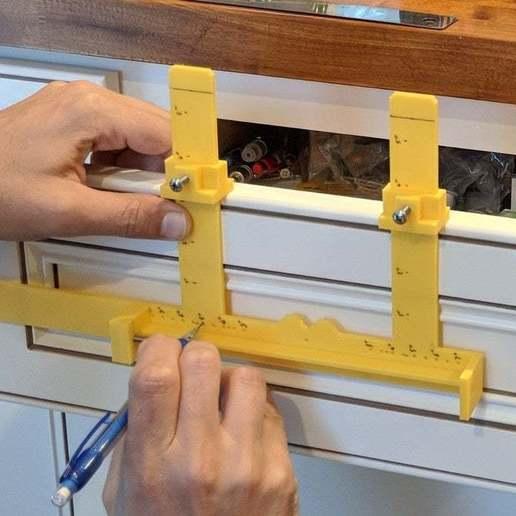 Download free STL file Cabinet Handle Jig • 3D printable design, ThinkSolutions