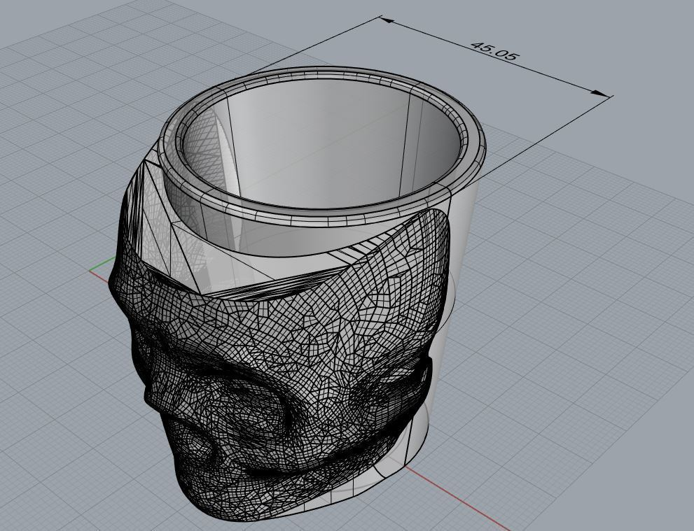 ShotGlassRevB.JPG Download free STL file Halloween Shot Glass • 3D printer template, ThinkSolutions