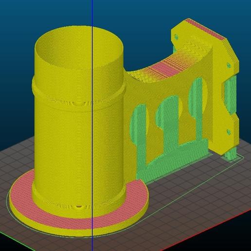 TikiTorchHoler-Supports.PNG Télécharger fichier STL gratuit Mont de clôture de la torche Tiki • Plan pour imprimante 3D, ThinkSolutions
