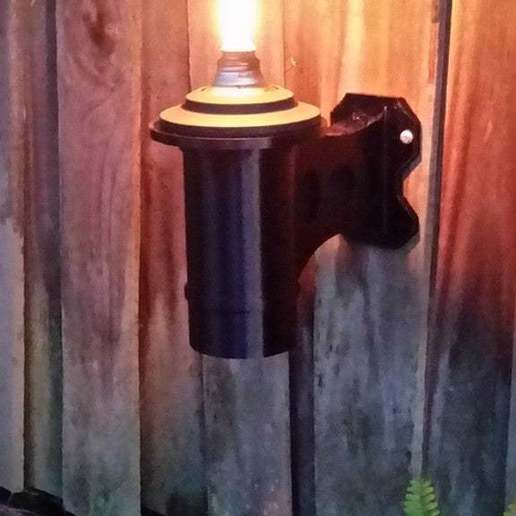 Download free STL file Tiki Torch Fence Mount, ThinkSolutions
