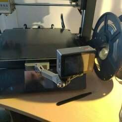 P_20190628_045236.jpg Download free STL file Gopro Mount for Anycubic Mega S • 3D printing template, Nivekkeke