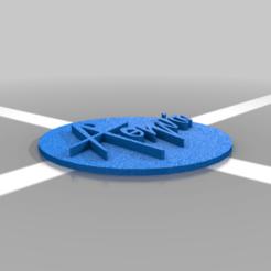 A_tag.png Download free STL file Name tag • 3D printable template, Korkofilaki