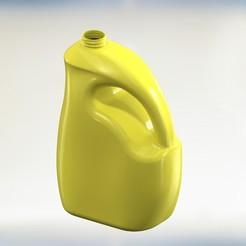 Download 3D printing templates Gallon Curved Plastic HDPE Mold 3D print model, monyrosesrl