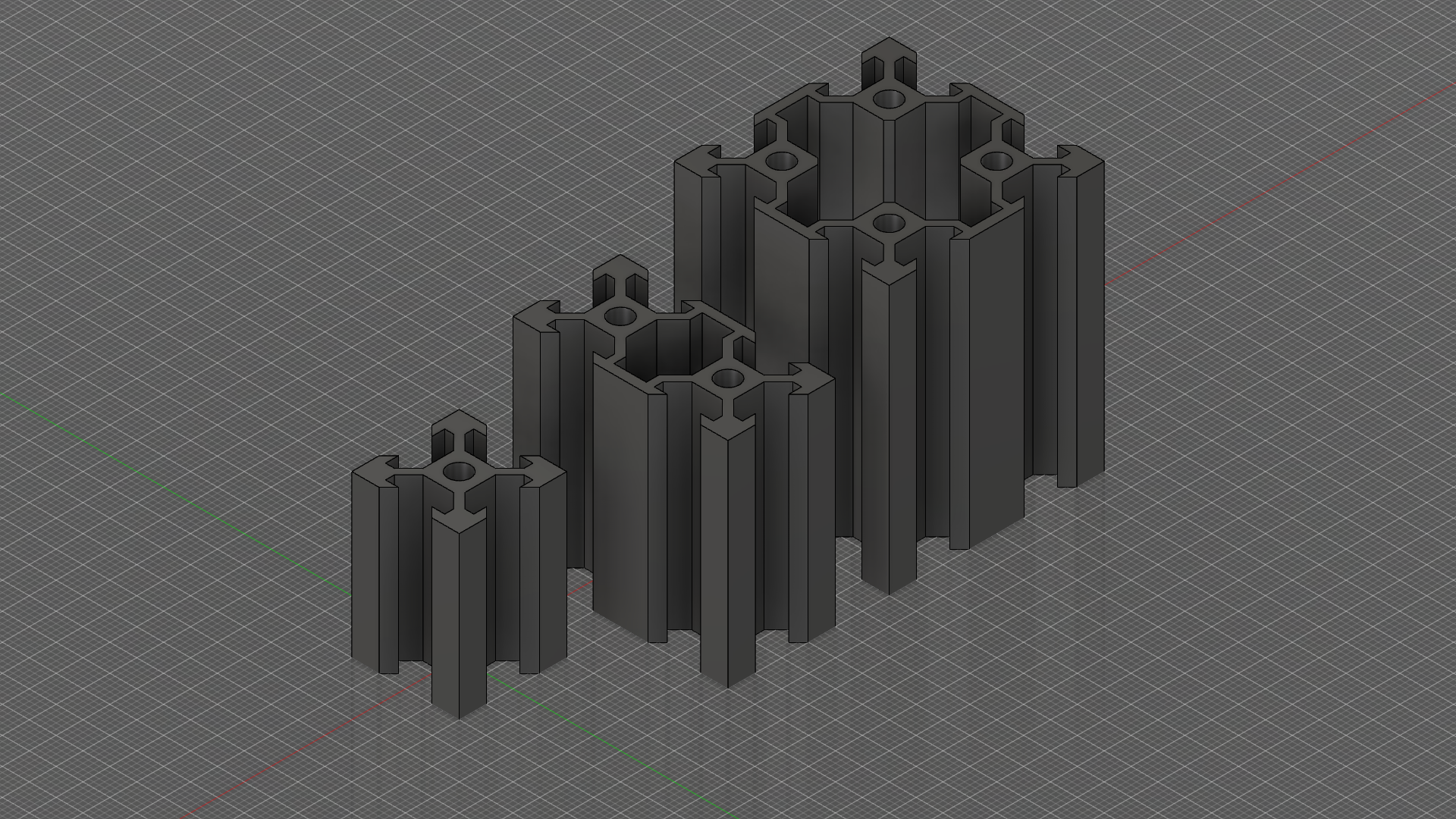 profiles.png Download free STL file V-Slot Aluminum Profiles (.DWG) • Template to 3D print, victor_arnaiz