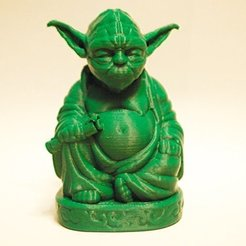 Download free STL Yoda Buddha Enhanced, marcossierra