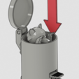 Download free 3D printing templates Raccoon in trash can, marcossierra
