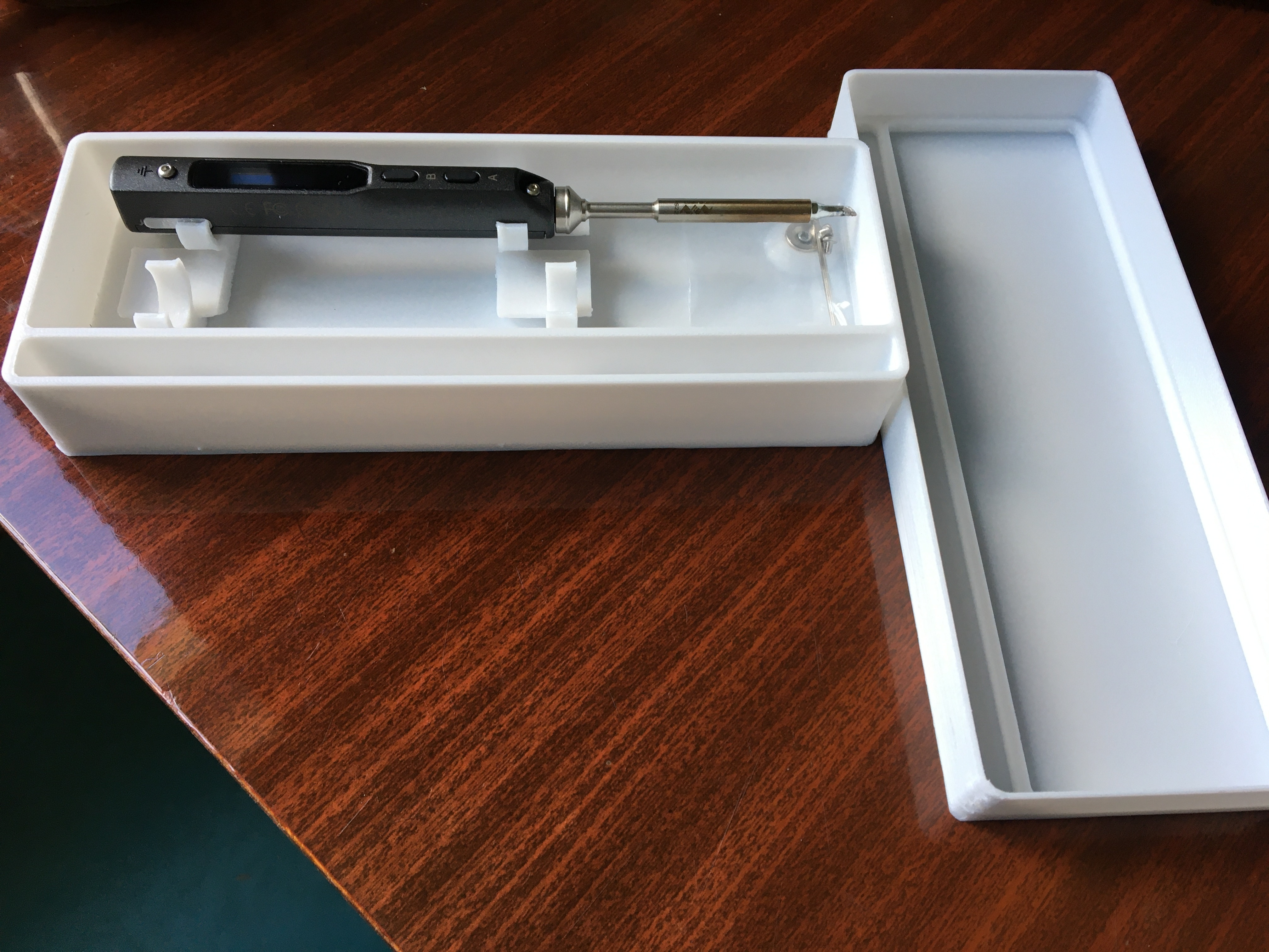 IMG_0059.JPG Download free STL file Soldering Iron Box TS100 • 3D printable design, drsmyrke