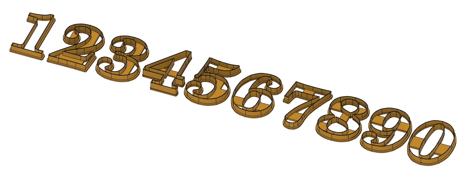 Numbers2.png Download STL file Numbers Cookie Cuters • 3D printable design, drsmyrke
