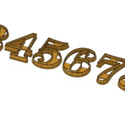 Numbers2.png Download STL file Numbers Cookie Cuters • 3D printable design, drsmyrke