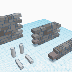 Download free 3D printing templates E-C straight Wall Bundle v1, Morhec