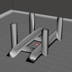 4 post for site.PNG Download STL file 1:64 Scale Hot Wheels Matchbox 4 post ramp Car Lift • 3D printer model, stew3