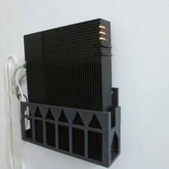 P1010984.JPG Télécharger fichier STL support mural livebox 5 • Objet pour impression 3D, tricotin-AF3D