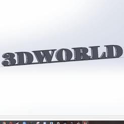 Télécharger fichier imprimante 3D gratuit 3D WORLD texte, SimonB