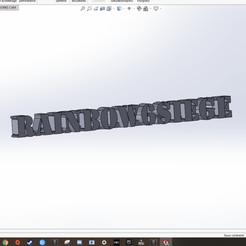 Télécharger fichier impression 3D gratuit rainbow six siege text 3d, SimonB
