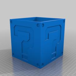 question_mark_box_base.png Télécharger fichier STL gratuit Boîte à points d'interrogation Mario 150x150x150 • Design pour imprimante 3D, rgriff000