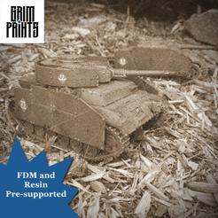 Panzer Stug Old Timey.png Download STL file Grim StuG  OR Grim Panzer VI Tank • 3D printer template, GrimPrints