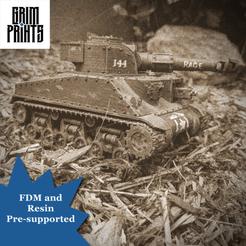 Old Timey.png Download STL file Grim Sherman Main Battle Tank • 3D printer object, GrimPrints