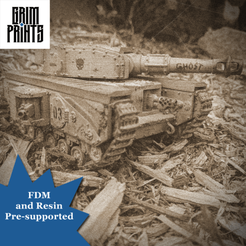 Old Timey Battle Tank.png Download STL file Grim Churchill Main Battle Tank • Model to 3D print, GrimPrints