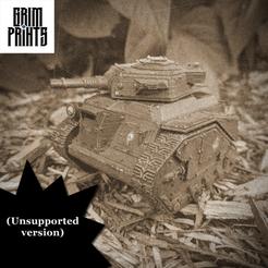 Old Timey.png Download free STL file Grim Pony Tank • 3D printable model, GrimPrints