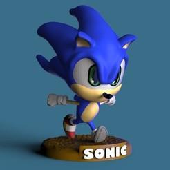 Sonic1.4.41.jpg Download STL file Sonic the Hedgehog • 3D printable design, lx_Ander