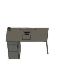 bureau miniature v1.png Download free STL file miniature bedroom desk • 3D print design, albanbris