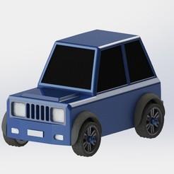 CAR TOY.jpg Download STL file CARTOON TOY CAR (ARABA)(OYUNCAK) • Object to 3D print, sametkinali1989