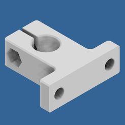 12mm.JPG Download free STL file 12mm Bar holder with M5 nut insert • 3D printing model, stevenduyck1980