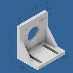 Nema 17 bracket Thick 5mm.JPG Télécharger fichier STL gratuit Parenthèse Nema 17 • Objet imprimable en 3D, stevenduyck1980