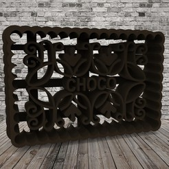 untitled.126.jpg Download free STL file Chocolinas - Cookie Cutter - CHOCO • Template to 3D print, covidgato