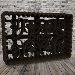 Télécharger fichier STL gratuit Chocolines - Coupe-biscuits - CHOCO • Objet pour impression 3D, covidgato