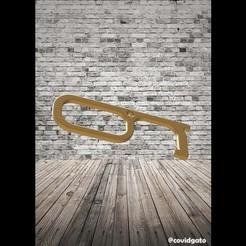 Download 3D printing files Door opener key ring - Covid 19, covidgato