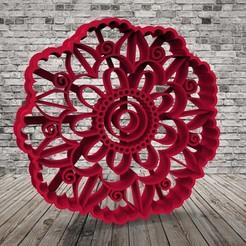 untitled.109.jpg Download free STL file Set x 3 - Mandalas - Cookie cutter • 3D printer template, covidgato