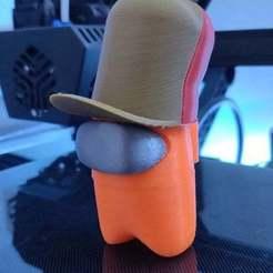 IMG_20201112_174400.jpg Télécharger fichier STL gratuit Chapeau de chasse - Parmi nous • Modèle imprimable en 3D, EaziG