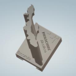 Captura de pantalla (406).png Download STL file Veracruz State Coat Hanger, Mexico • 3D printer object, Scarola