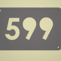 Captura de pantalla (444).png Download free STL file House Number Plate • Object to 3D print, Scarola