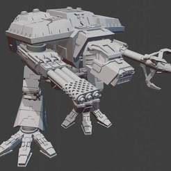 Descargar archivo 3D gratis Adeptus Titanicus Lucius Pattern Warhound Titan, Atomschlumpf