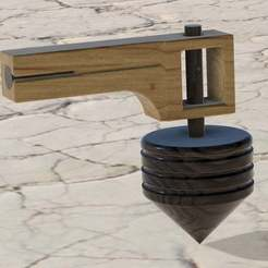 Spinner_v1.jpg Download free STL file Spinner with pull launcher • 3D print template, bruceagordon