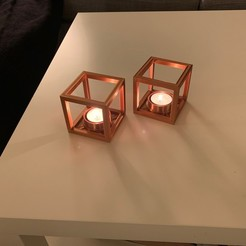 Download STL Tealight Cube, OberkornGraphics