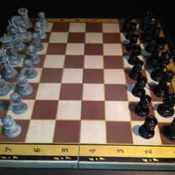 Ajedrez_Completo.PNG Télécharger fichier STL Échecs, pièces d'échecs arabes et romaines • Objet à imprimer en 3D, jjsarte3d