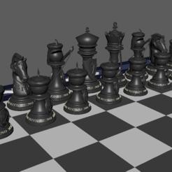 Piezas_Arabes.PNG Télécharger fichier STL Échecs arabes, Pièces d'échecs • Plan pour impression 3D, jjsarte3d