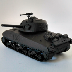 Download 3D print files Sherman M4 tank, Replica with rotating tower, jjsarte3d