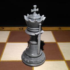 Rey.PNG Download STL file Chess King • 3D printing design, jjsarte3d