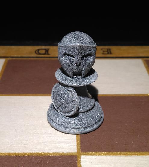 Peon.PNG Download STL file Spartan Chess Pawn • 3D printer model, jjsarte3d