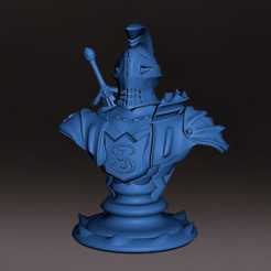 Caballero_F_m.PNG Download STL file Bust of a medieval Dragon Knight with base, miniature, board game, dyd, warhammer, base, stage, role playing, chess • 3D printer design, jjsarte3d