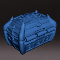 Cofre_Tras_M.PNG Download STL file Ornament or miniature chest, D&D board games • 3D print design, jjsarte3d