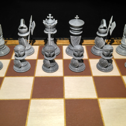 Todas.PNG Télécharger fichier STL Échecs, pièces d'échecs romaines • Plan pour impression 3D, jjsarte3d